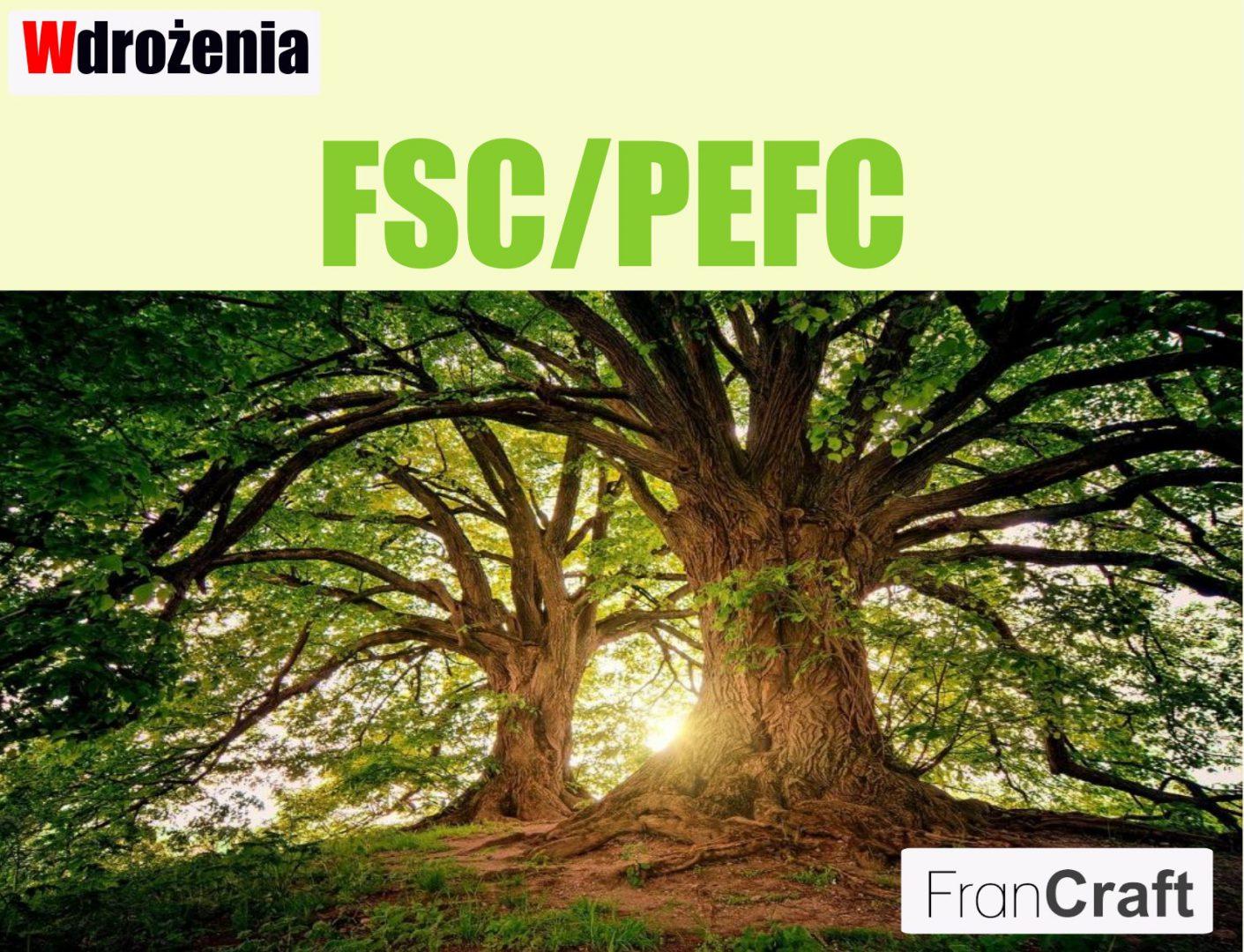 wdrożenie systemu FSC/PEFC odpowiedzialna gospodarka leśna