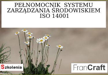 pełnomocnik systemu zarządzania środowiskiem ISO 14001 szkolenie
