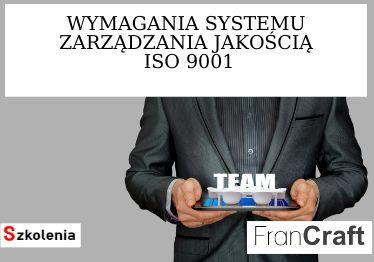 wymagania systemu jakości ISO 9001 szkolenie